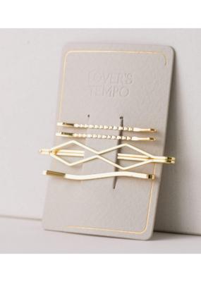 Lover's Tempo Davina Bobby Pin 4 Pack Gold by Lover's Tempo