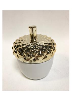 Illume Vintage Velvet  Ceramic Acorn Candle