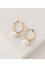 Lover's Tempo Andie Pearl Hoop Earrings by Lover's Tempo