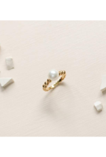 Lover's Tempo Steff Pearl Ring Gold-Plated by Lover's Tempo