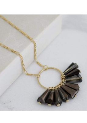 Lover's Tempo Confetti Necklace in Smoke by Lover's Tempo