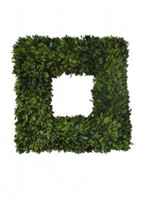 "22"" Boxwood Square Wreath"