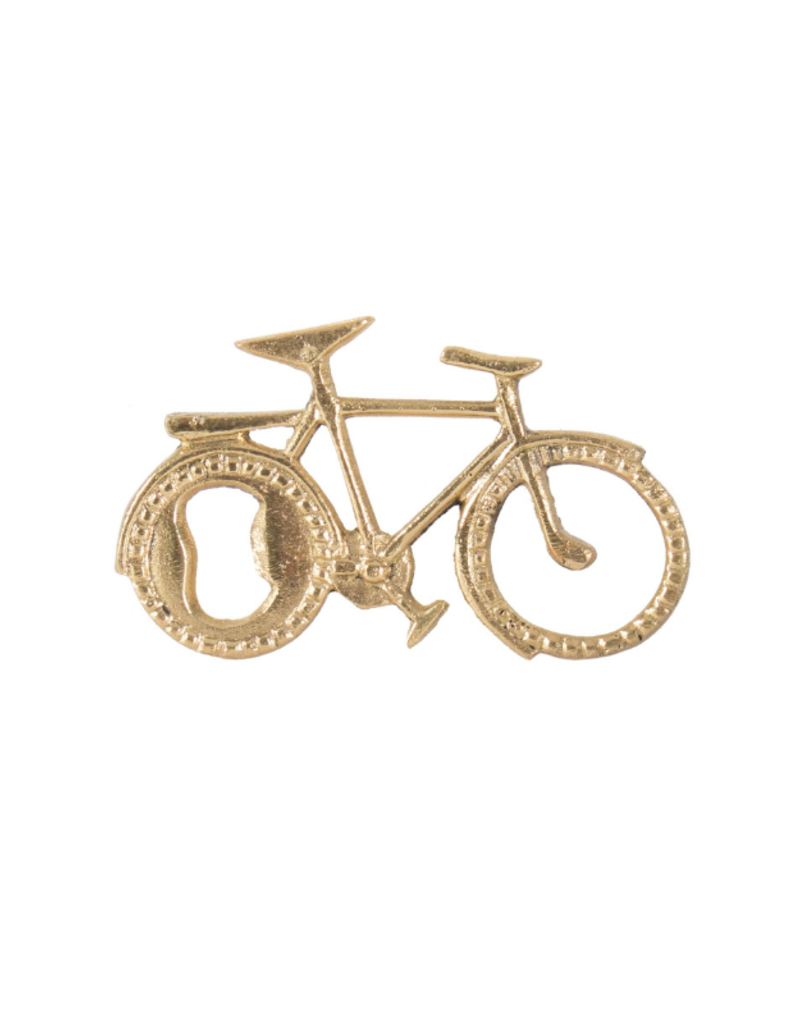 Brass Bike Bottle Opener
