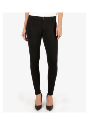 Kut from the Kloth Mia Toothpick Skinny in Ponte Pant Black by Kut from the Kloth