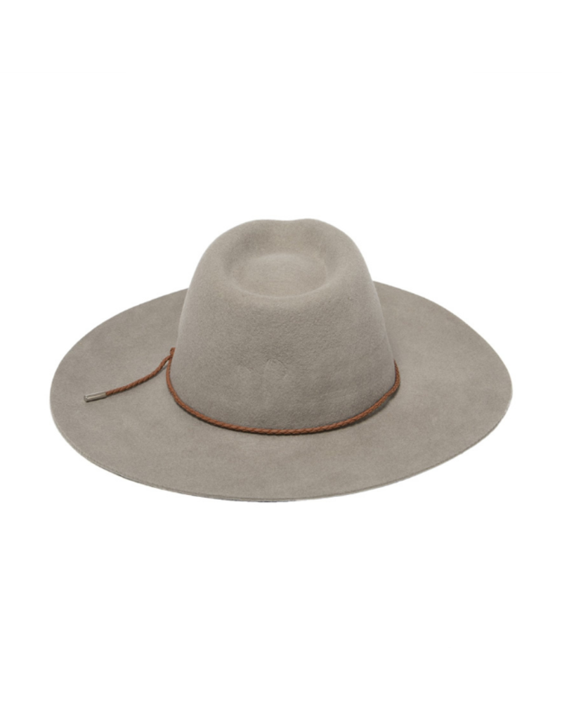 San Diego Hats Anza Fedora with Faux Leather Band in Grey by San Diego Hat Company