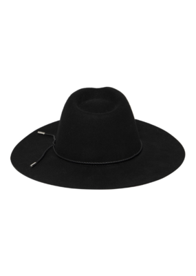 San Diego Hats Anza Fedora with Faux Leather Band in Black by San Diego Hat Company