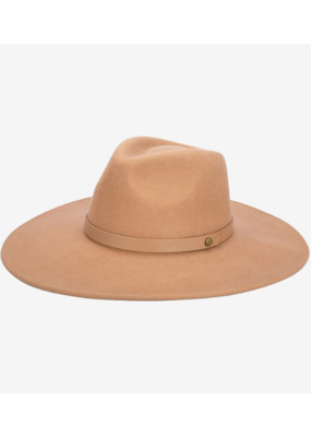 San Diego Hats Ramona Felt Fedora with Matching Band in Camel by San Diego Hat Company