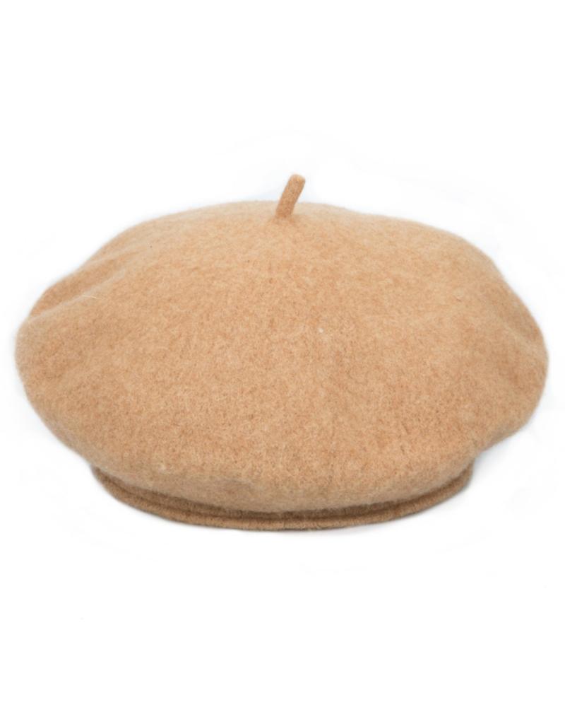 San Diego Hats Wool Felt Cabbie Hat in Camel by San Diego Hat Company