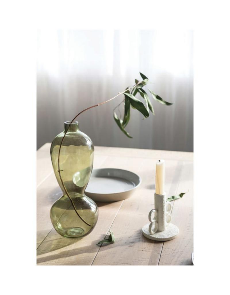 Bloomingville Round Glass Green Vase