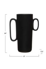 Bloomingville Black Asymmetrical Stoneware Vase