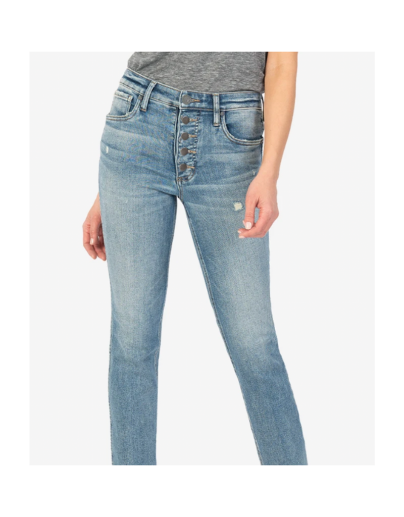 Kut from the Kloth Rachael High Rise Fab Ab Mom Jean in Imagined Wash by Kut from the Kloth
