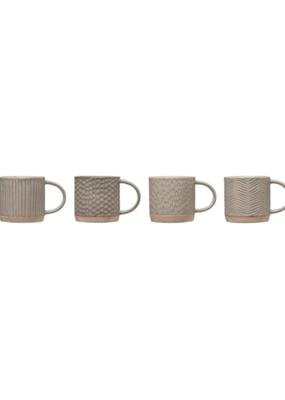 Bloomingville Debossed Stoneware Mug