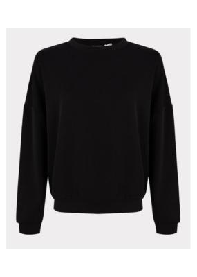 ESQUALO Sweatshirt Top in Black by ESQUALO