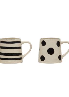 Stoneware Mug with Linen Texture