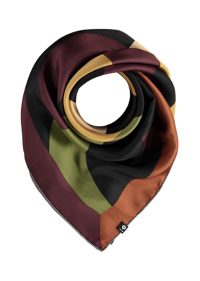 Fraas Circled Silk Square Scarf