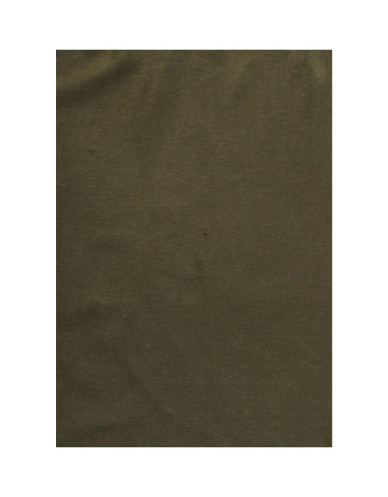 Fraas Contrast Stitch Cashmink Ruana in Dark Olive