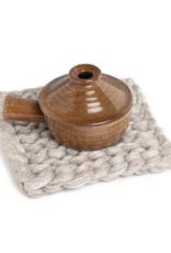 Chunky Knitted Trivet Beige