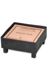 himalayan trading post Tobacco Bark Square Blacksmith Bowl by Himalayan Handmade Candle