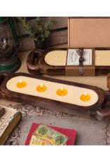 himalayan trading post Grapefruit Pine Medium Wood Candle Tray 40oz by Himalayan Handmade Candle