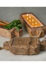 himalayan trading post Tobacco Bark Large Driftwood Candle Tray 44oz by Himalayan Handmade Candle