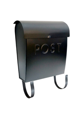 Euro Post Mailbox in Black