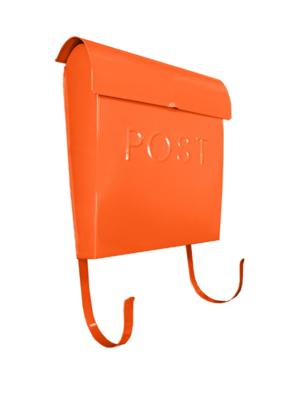 Euro Post Mailbox in Orange