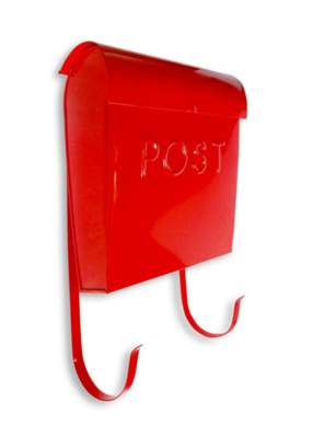 Euro Post Mailbox in Red