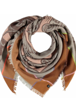 Fraas Love Cotton Linen Square Scarf