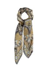Fraas Kaleido Queen Silk Scarf in Light Grey