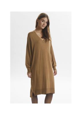 LOUNGE NINE Noian Knit Dress in Toasted Coconut by Lounge Nine