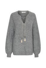 Cream Miranda Sweater in Grey Melange by Cream