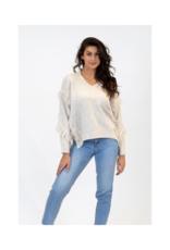 Lyla & Luxe Bindi Sweater with Fringe in Beige by Lyla & Luxe