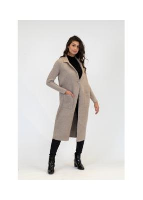 Lyla & Luxe Jimmi Long Coat in Medium Oatmeal by Lyla & Luxe