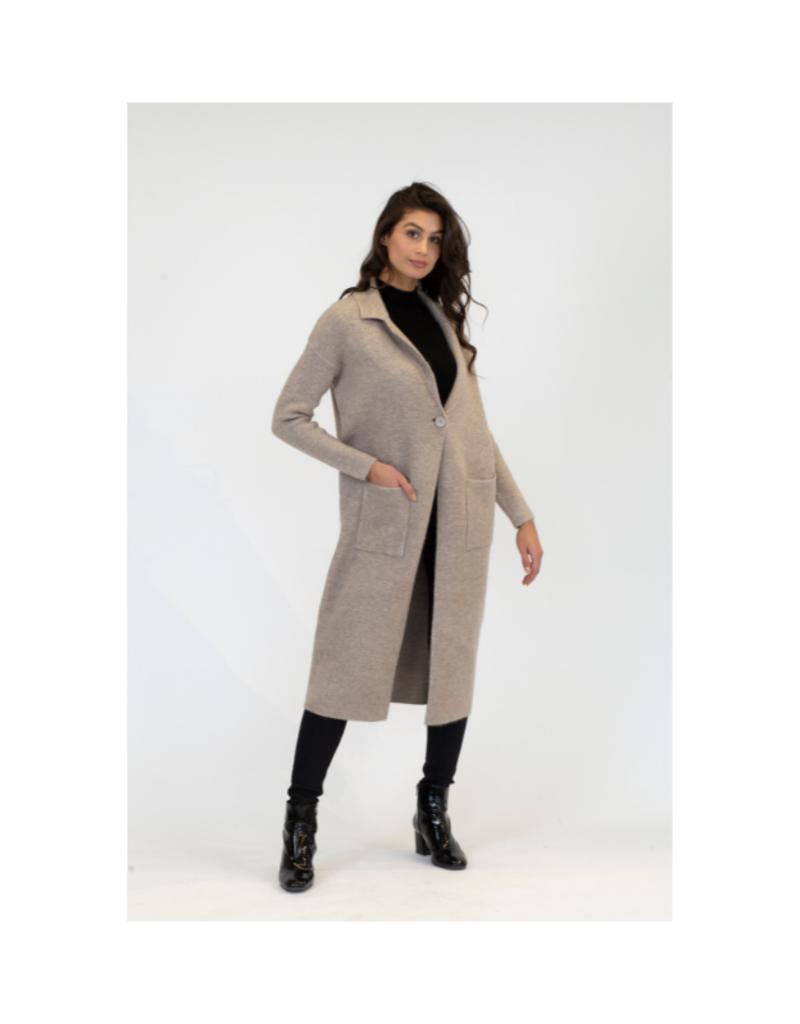 Lyla & Luxe Jimmi Long Coat in Oatmeal by Lyla & Luxe