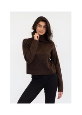 Lyla & Luxe Mabel Mock Neck Sweater in Chocolate by Lyla & Luxe