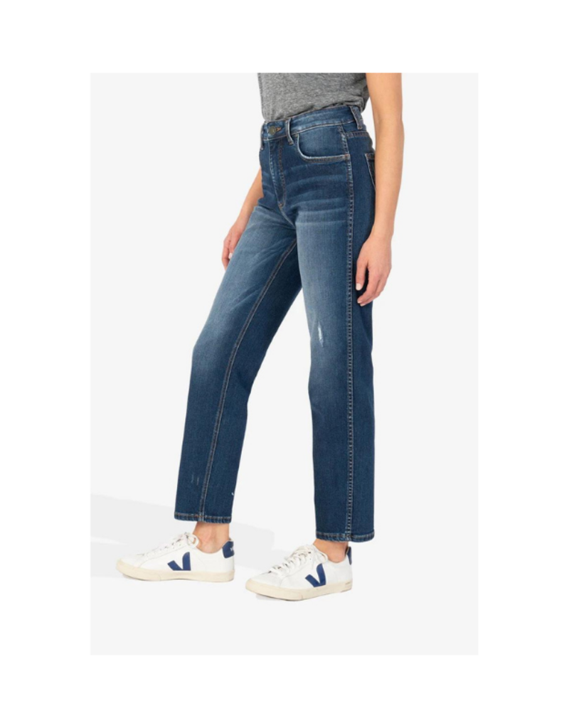 Elizabeth High Rise Fab Ab Ankle Straight Leg in Inclusive Wash by Kut from the Kloth