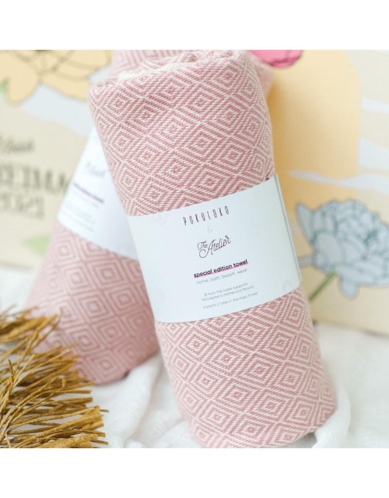 Pokoloko Diamond Atelier Pink Turkish Body Towel