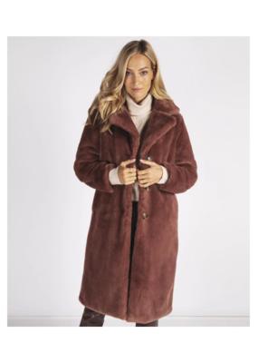 ESQUALO Faux Fur Jacket in Marron by ESQUALO