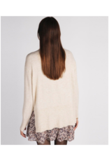 ESQUALO Mock Neck Sweater in Beige by ESQUALO