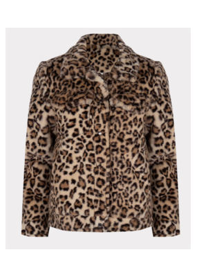 ESQUALO Faux Fur Jacket in Leopard by ESQUALO