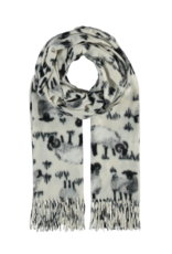 Fraas Sheepish Scarf in Off White
