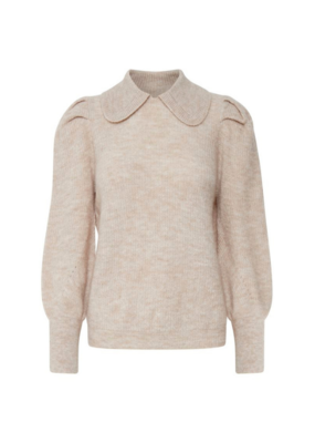 b.young Martine Sweater in Cement Melange by b.young