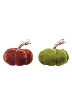 Velvet Pumpkin with Stem Size Small