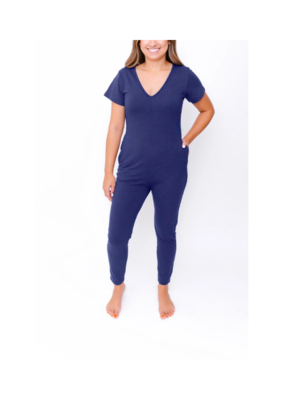Smash + Tess Cozy Sunday Romper in Blue by Smash + Tess