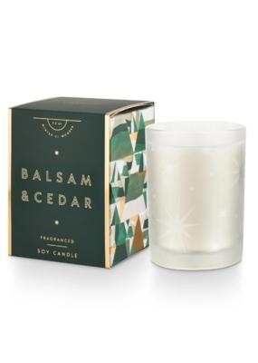 Illume Balsam & Cedar Glass Boxed Candle