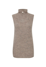 b.young Mandy Knit Vest in Cement Melange by b.young