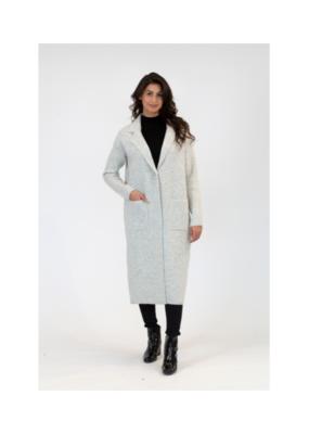 Lyla & Luxe Jimmi Long Coat in Light Grey by Lyla & Luxe