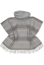 Fraas Tweed Cowl Neck Poncho in Silver