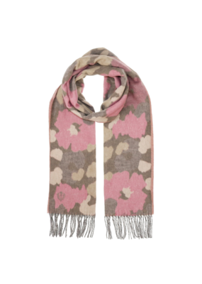 Fraas Eco Cashmink Camo Scarf in Pink