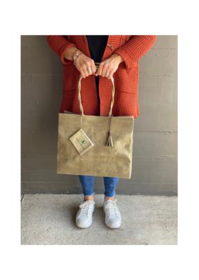 Brave Brown Bag Shopper Marche Bag in Olive by Brave Brown Bag